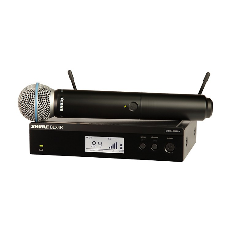 Shure BLX24R/B58 Wireless System with Rackmountable Receiver and Beta 58A Microphone Capsule frequency J10