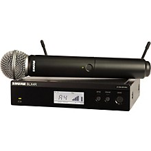 Shure BLX24R/SM58 Wireless System with Rackmountable Receiver and SM58 Microphone Capsule Band H10