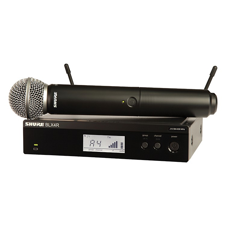 Shure BLX24R/SM58 Wireless System with Rackmountable Receiver and SM58 Microphone Capsule frequency H8