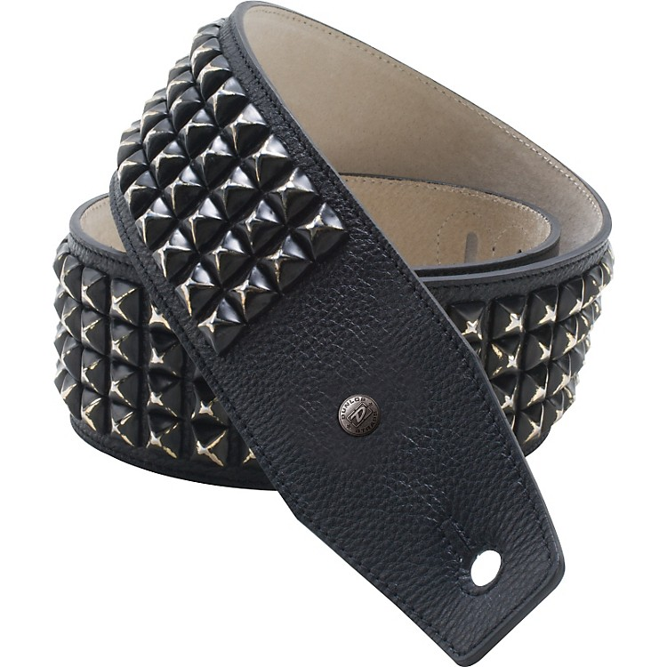 Dunlop BMF Leather Guitar Strap with Distressed Black Studs