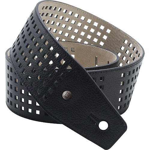 Dunlop BMF Leather Strap - Square Perforations-thumbnail