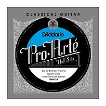 D'Addario BNH-3B Pro-Arte 80/20 Hard Tension Classical Guitar Strings Half Set