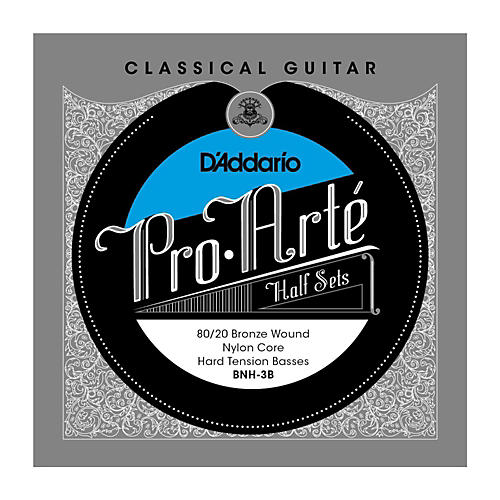 D'Addario BNH-3B Pro-Arte 80/20 Hard Tension Classical Guitar Strings Half Set-thumbnail