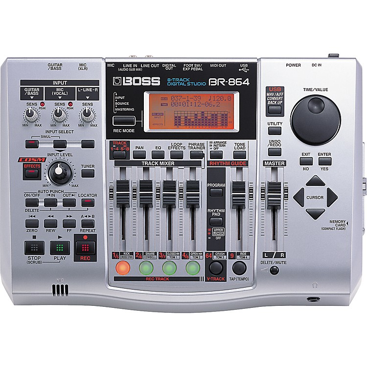 Boss BR-864 8-Track Multitrack Recorder