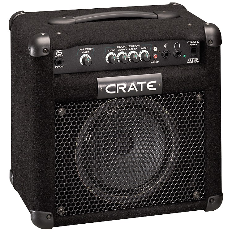crate bt15 15w 1x8 bass combo amp pack musician 39 s friend. Black Bedroom Furniture Sets. Home Design Ideas