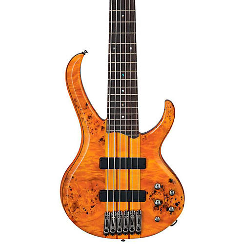 Ibanez BTB776PB 6-String Bass Guitar Amber