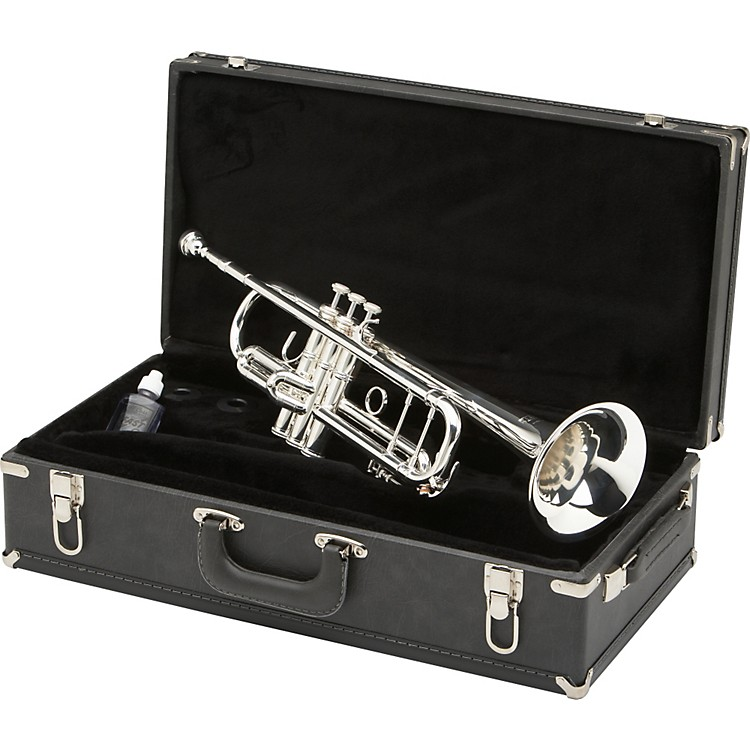 Blessing BTR-1580 Series Professional Bb Trumpet BTR-1580G Silver with Gold Trim