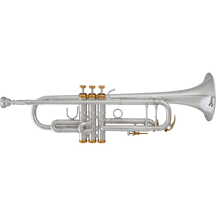 Blessing BTR-1580R Professional Reverse Tuning Slide Series Bb Trumpet BTR-1580RG Silver with Gold Trim Reverse Tuning Slide