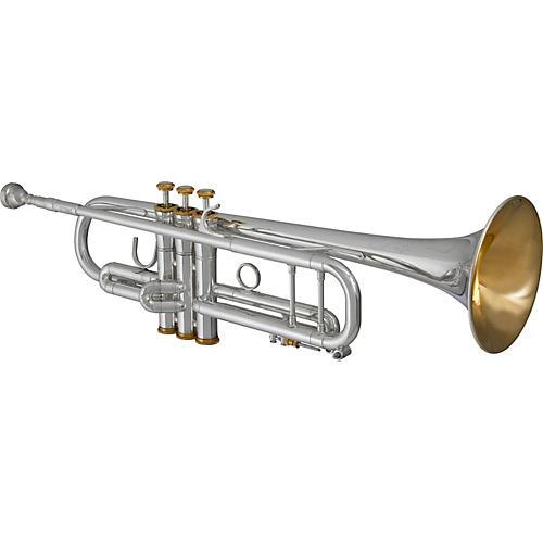 Blessing BTR-ML1 Artist Series Bb Trumpet Silver Gold Trim