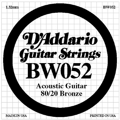 D'Addario BW052 80/20 Bronze Acoustic Guitar Strings