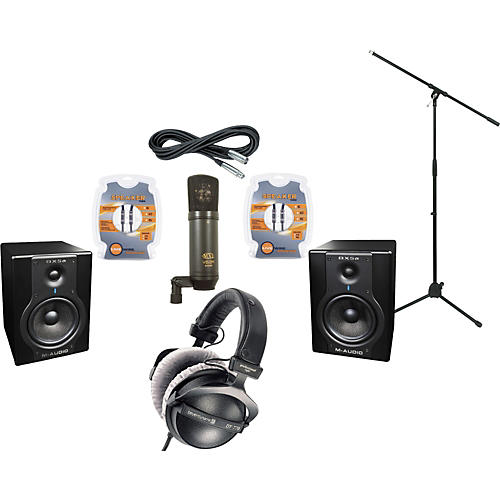 M-Audio BX5A Studio Monitors / MXL V63M Microphone / Beyerdynamic DT-770 Pro-80 Headphones Recording Package