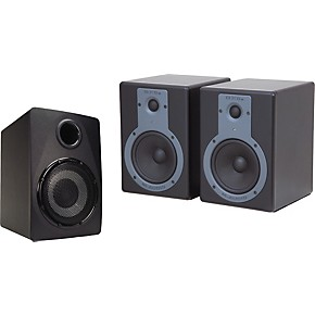 m audio bx5a and sbx subwoofer 2 1 studio monitor system musician 39 s friend. Black Bedroom Furniture Sets. Home Design Ideas
