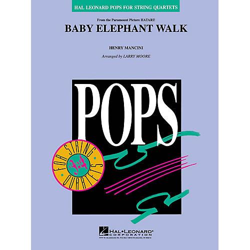 Hal Leonard Baby Elephant Walk Pops For String Quartet Series Arranged by Larry Moore