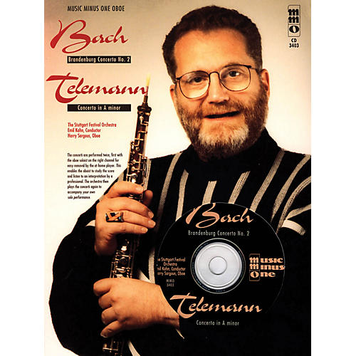 Music Minus One Bach - Brandenburg Conc No 2 & Telemann - Conc in A Min Music Minus One BK/CD by Harry Sarguous-thumbnail