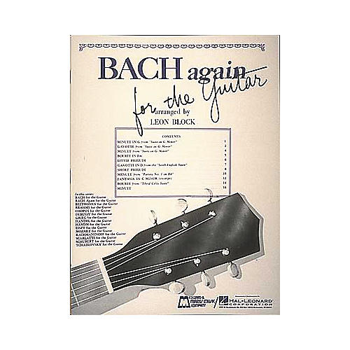 Edward B. Marks Music Company Bach Again for Guitar Book