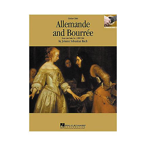 Hal Leonard Bach: Allemande and Bourre Guitar Sheet Music Book-thumbnail