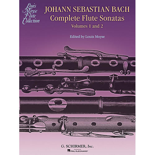 G. Schirmer Bach Complete Flute Sonatas - Volumes 1 and 2 Woodwind Solo Series Softcover