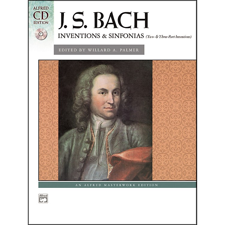 Alfred Bach Inventions & Sinfonias (Two- & Three-Part Inventions) Piano Book & CD
