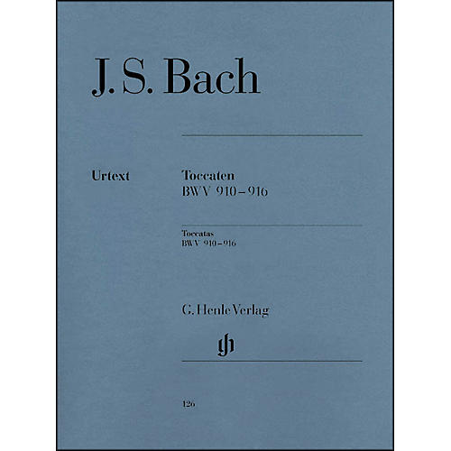 G. Henle Verlag Bach Toccatas BWV 910-916 By Bach