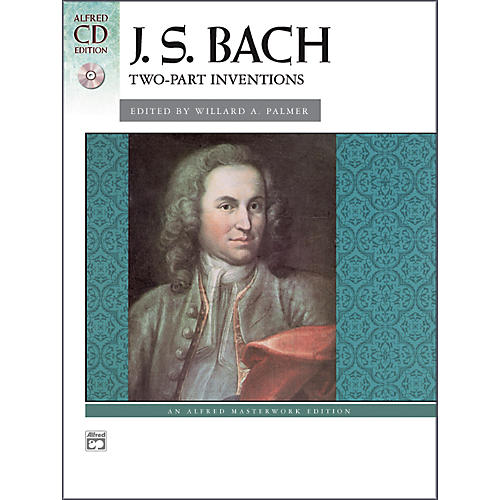 Alfred Bach Two-Part Inventions Intermediate / Late Intermediate Book & CD Piano