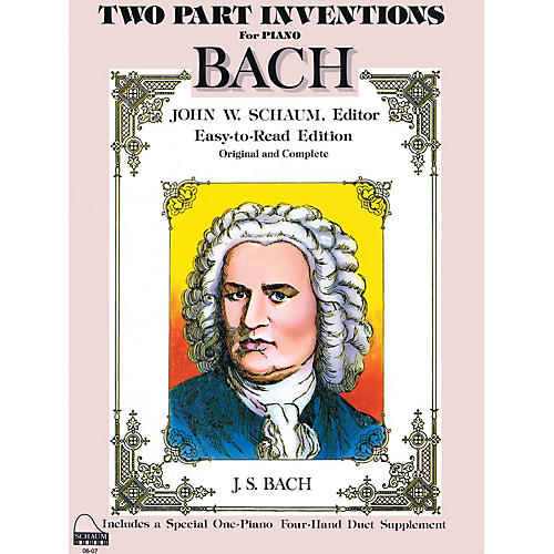 SCHAUM Bach Two-part Inventions Educational Piano Series Softcover-thumbnail