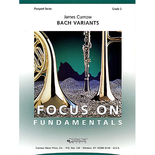 Curnow Music Bach Variants (score) (Grade 2 - Score Only) Concert Band Level 2 Composed by James Curnow-thumbnail