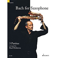 Schott Bach for Saxophone: 3 Partitas - BWV 1002, BWV 1004, BWV 1006 Woodwind Solo Series Book