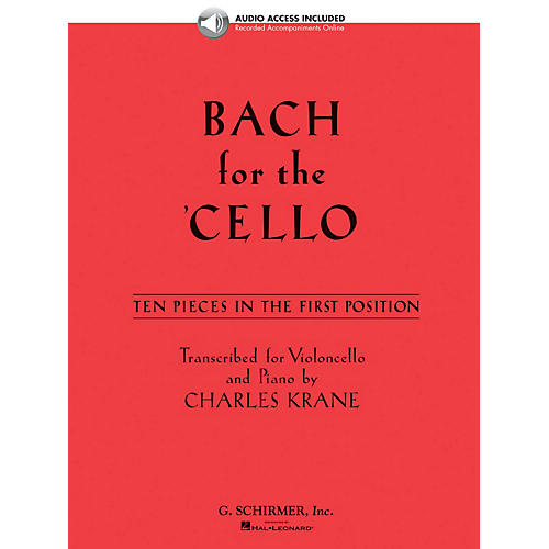 G. Schirmer Bach for the Cello String Solo BK/Audio Online Composed by Bach Edited by Charles Krane
