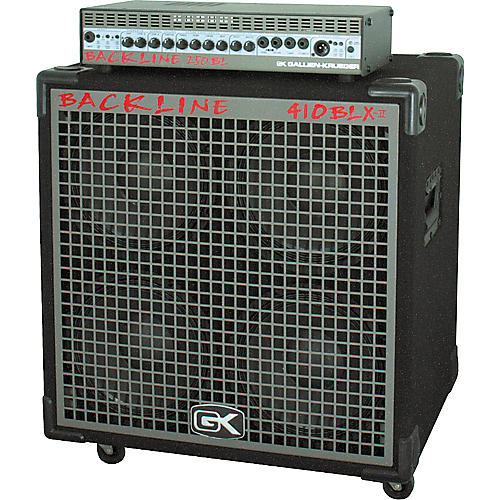 Gallien-Krueger Backline 250 Head and 410 BLX Cab Half Stack-thumbnail