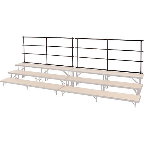Midwest Folding Products Backrails for Standing Choral Risers for 4 Level Straight
