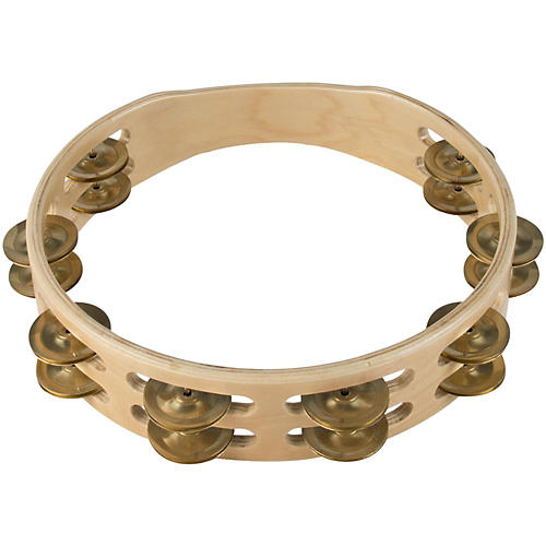 Sound Percussion Labs Baja Percussion Double Row Headless Tambourine with Brass Jingles-thumbnail