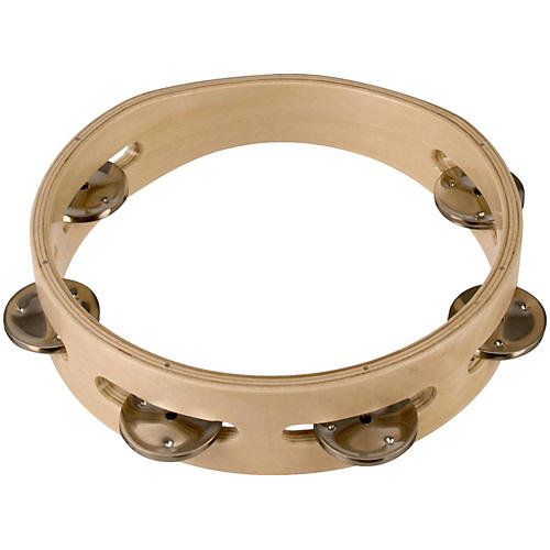 Sound Percussion Labs Baja Percussion Single Row Headless Tambourine with Steel Jingles 8 in. Natural