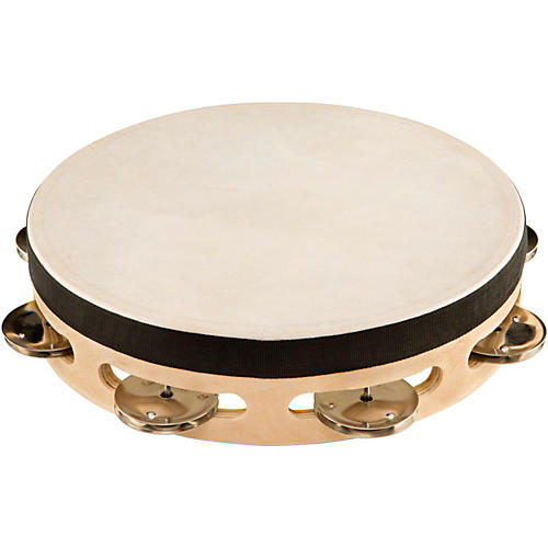 Sound Percussion Labs Baja Percussion Single Row Tambourine with Steel Jingles-thumbnail