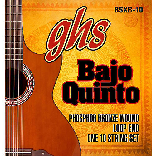 GHS Bajo Quinto 10-String Phosphor Bronze Acoustic Guitar Strings