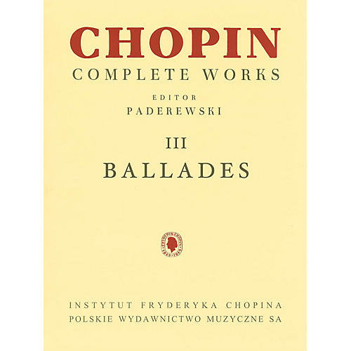 PWM Ballades (Chopin Complete Works Vol. III) PWM Series Softcover-thumbnail