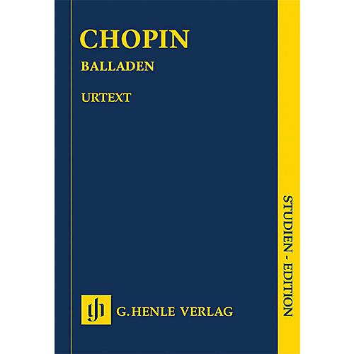 G. Henle Verlag Ballades (Revised Edition Piano Study Score) Henle Study Scores Series-thumbnail