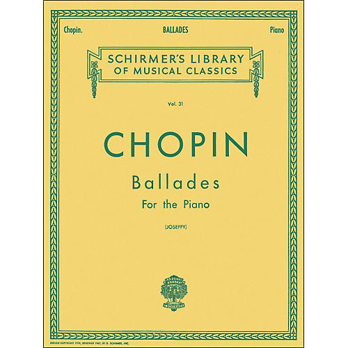 G. Schirmer Ballades for Piano By Chopin-thumbnail