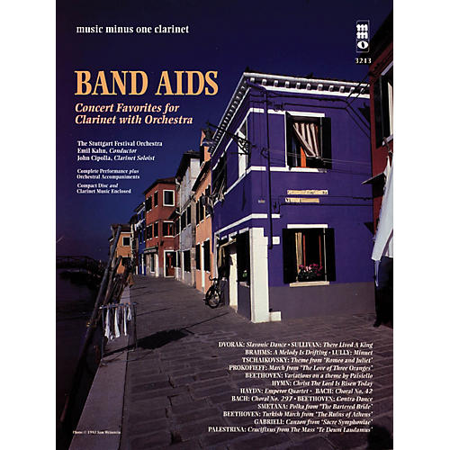 Music Minus One Band Aids - Concert Band Favorites with Orchestra Music Minus One Series BK/CD-thumbnail
