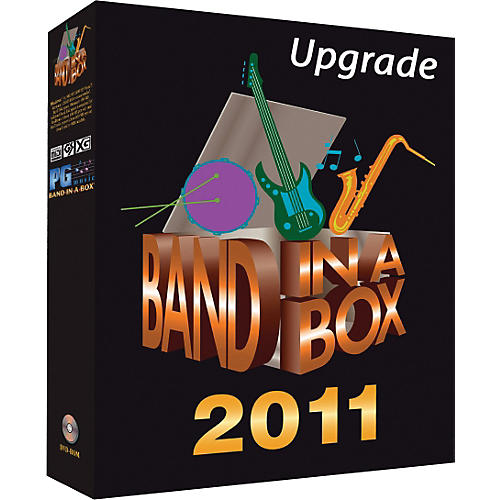PG Music Band-in-a-Box 2011 EverythingPAK Windows Upgrade/Crossgrade from any Version (Portable Hard Drive)