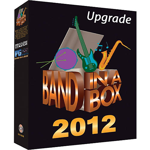PG Music Band-in-a-Box 2012 MegaPAK Windows Upgrade/Crossgrade from any Version