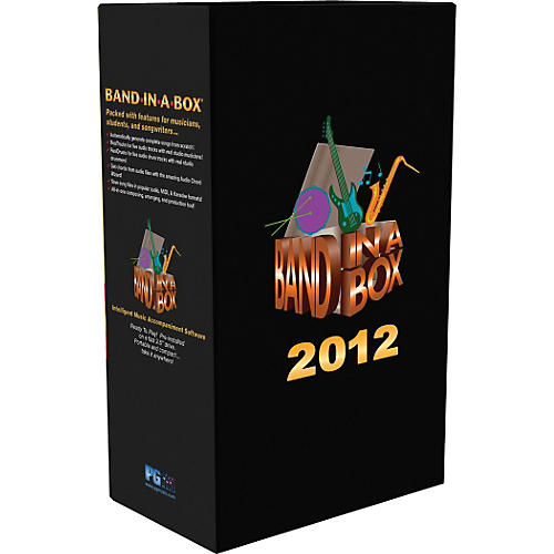 PG Music Band-in-a-Box 2012 UltraPlusPAK HD Upgrade from Previous Version (WIN)