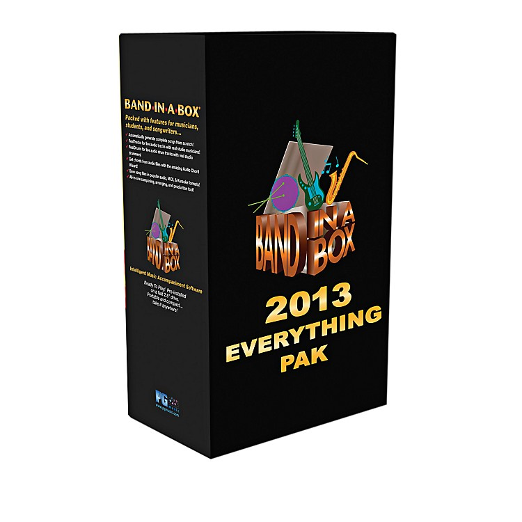 PG MusicBand-in-a-Box 2013 EverythingPAK (Win-Portable Hard Drive)