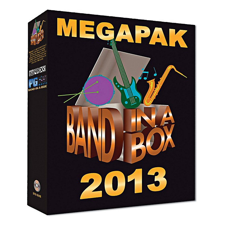 PG Music Band-in-a-Box 2013 MEGAPAK (Windows DVD-ROM)