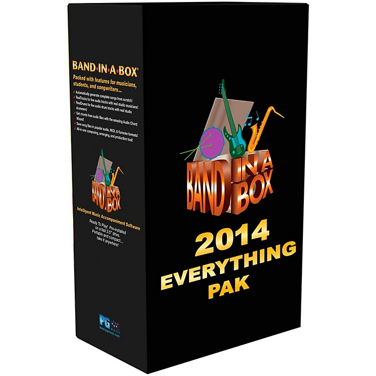PG MusicBand-in-a-Box 2014 EverythingPAK (Win-Portable Hard Drive)