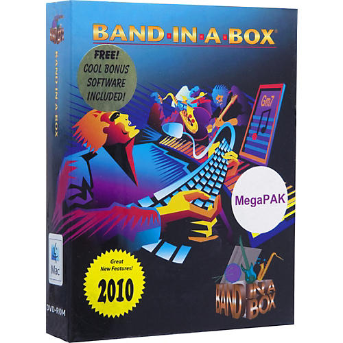 PG Music Band-in-a-Box Pro 2010 for MacIntosh MegaPAK
