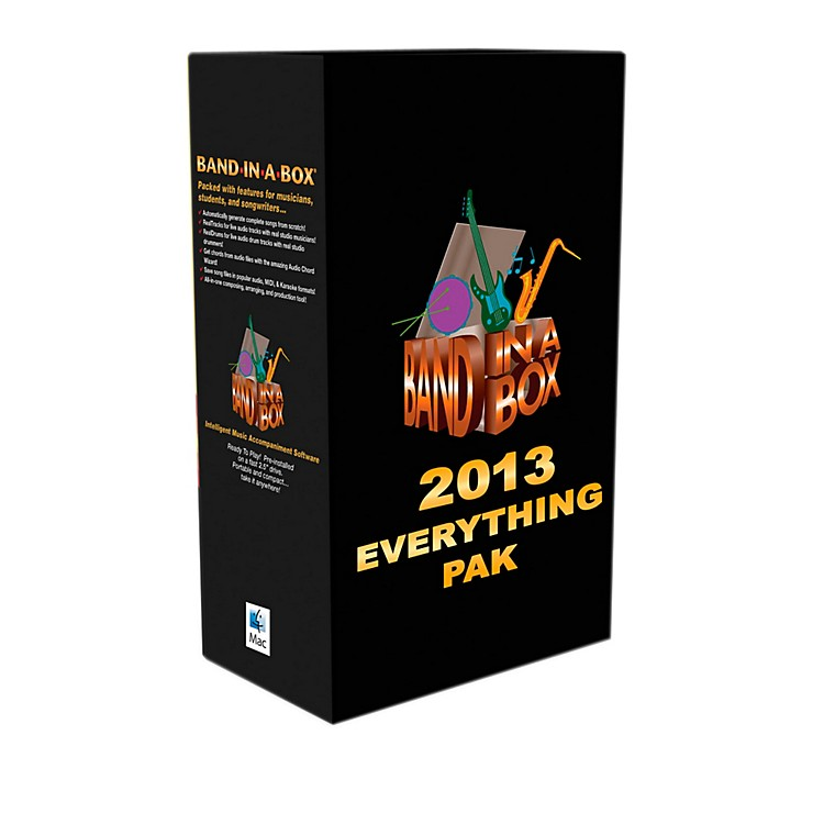 PG Music Band-in-a-Box Pro 2013 MAC EverythingPAK (Mac-Hard Drive)