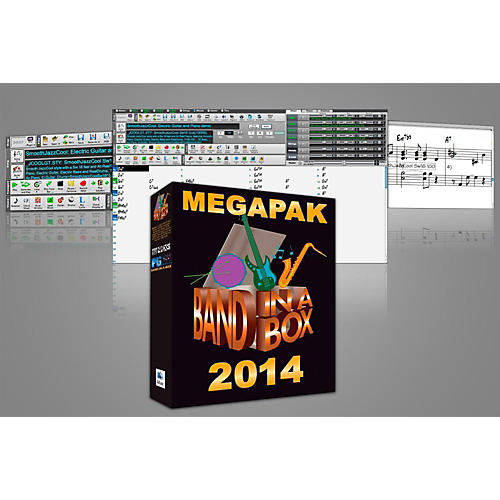 PG Music Band-in-a-Box Pro 2014 MAC MegaPAK (Mac-DVD)