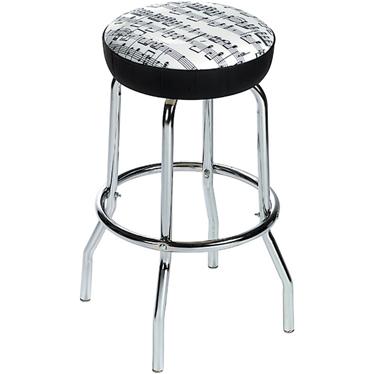AIM Bar Stool Sheet Music White with Black Notes