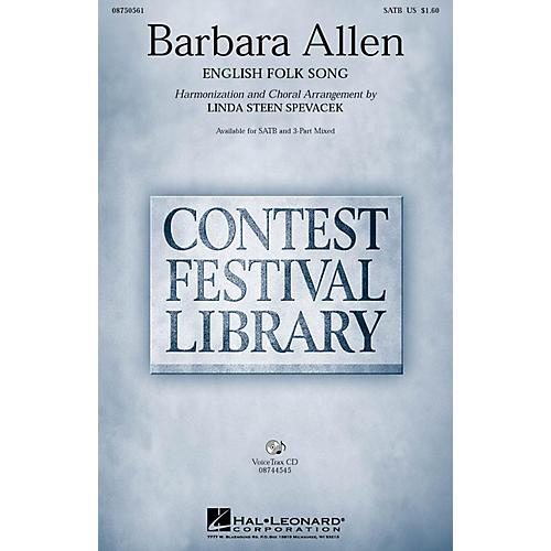 Hal Leonard Barbara Allen SATB arranged by Linda Spevacek
