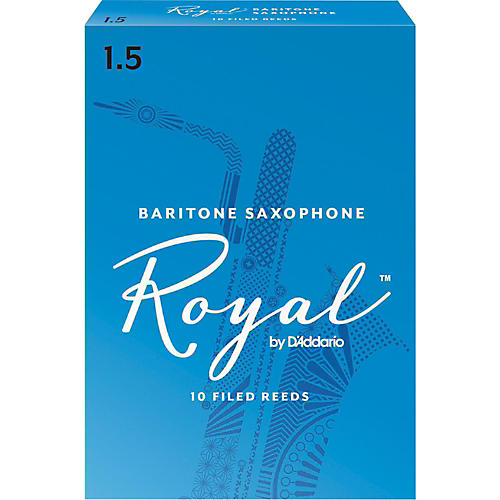 Rico Royal Baritone Saxophone Reeds, Box of 10-thumbnail
